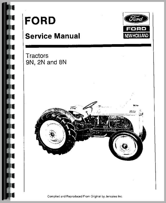 8n ford tractor shop manual