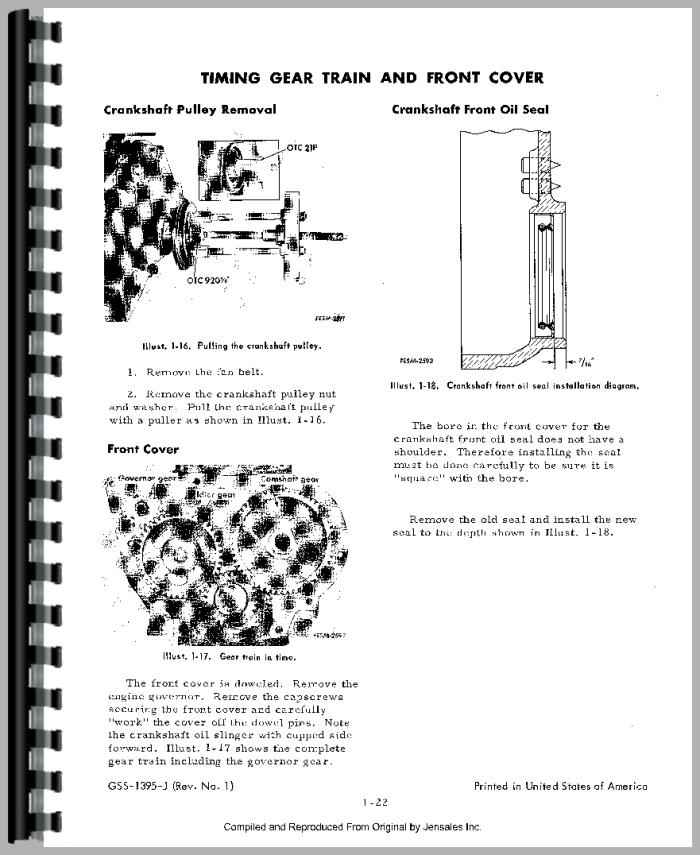 International Harvester 3500A Industrial Tractor Engine Service Manual