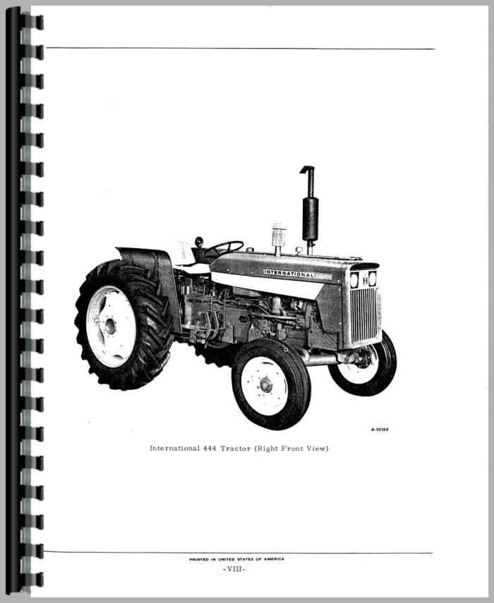 Farmall International Tractor 444 Wiring Diagram Gas - wiring