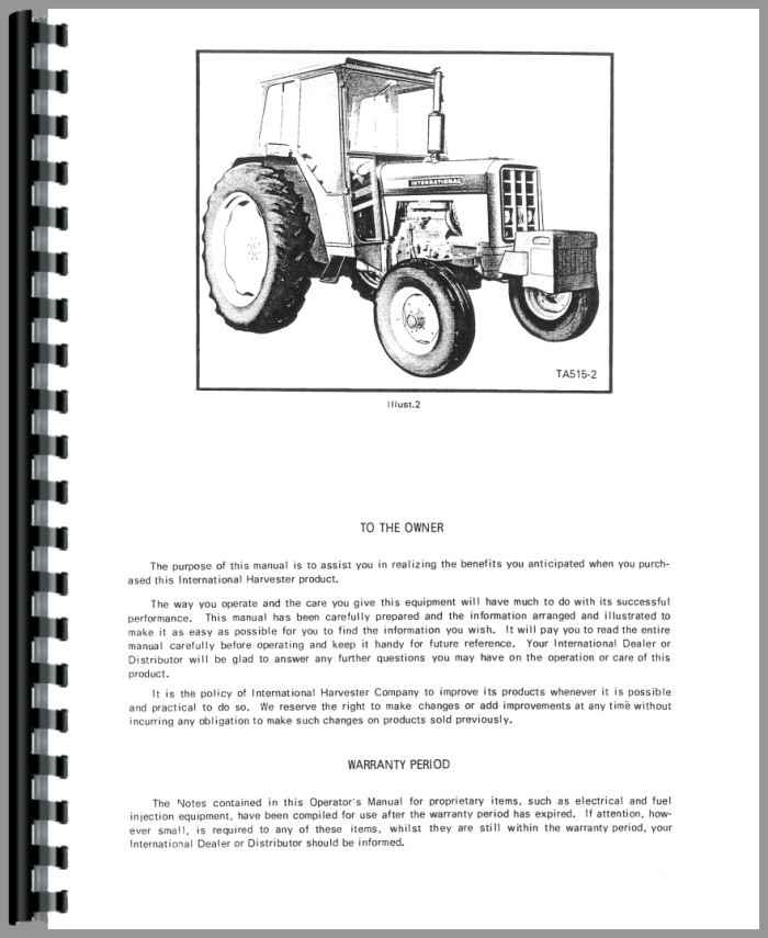 International Tractor 454 Manual