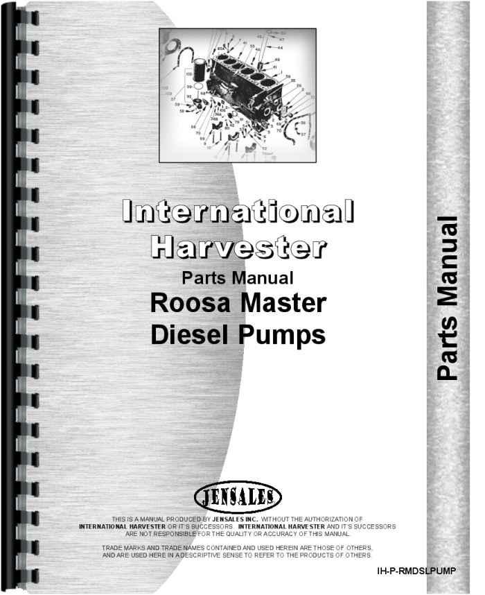 Roosa Master Injection Manual