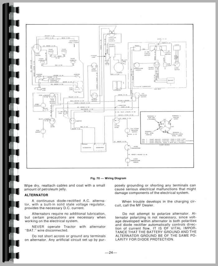 Massey Ferguson 165 Electrical Schematic - Somurich