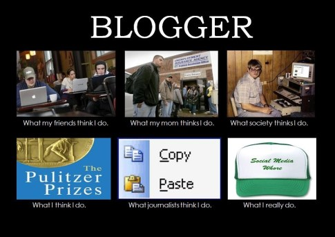 What bloggers actually do