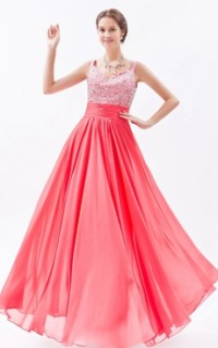 Junior Prom Dresses,Front Keyhole Bust Fuchsia Junior Prom