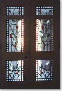 New Door Designs: Stained Glass Interior Vestibule Door