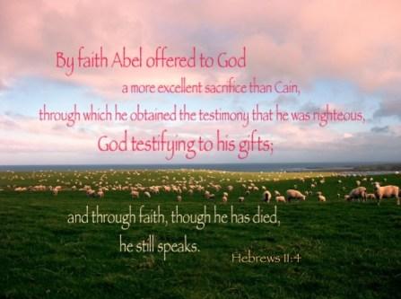 Reconocimiento fotográfico: Google Plus – Hebreos. 11:4, Abel, aun habla Hoy.