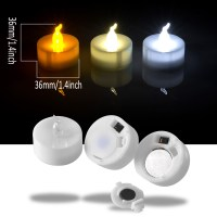 24 PCS LED Tealight Battery Operated Flameless Flickering ...