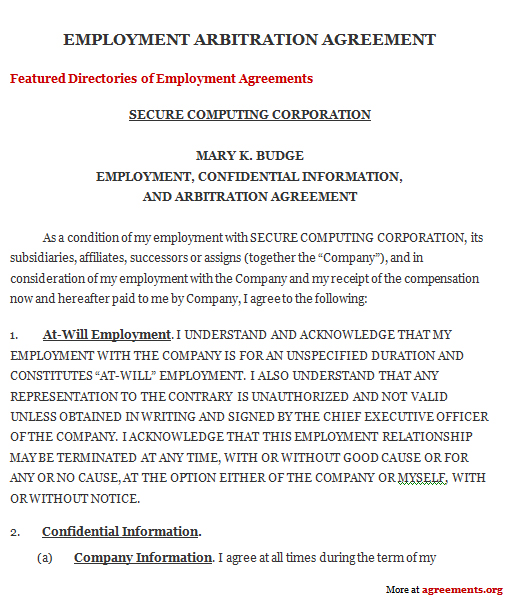 Get Arbitration Agreements Personal Agreements