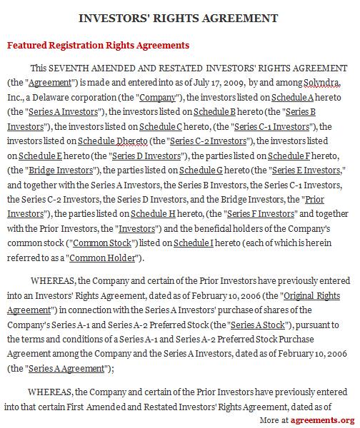 investors agreements - Yelommyphonecompany