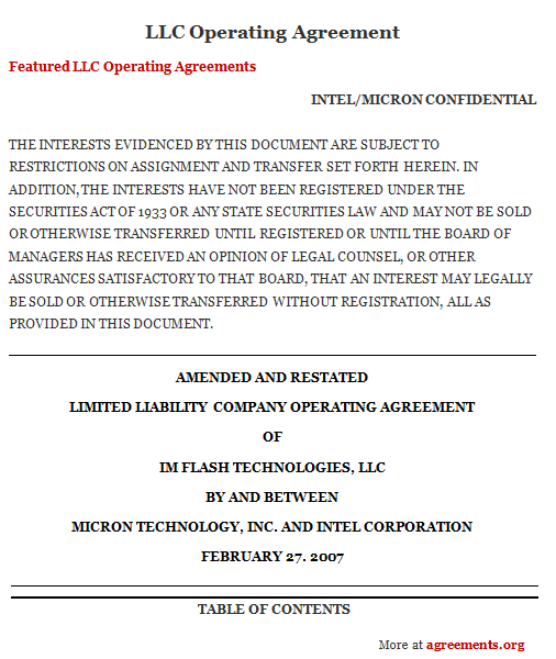 Get LLC Operating Agreements Financial Agreements
