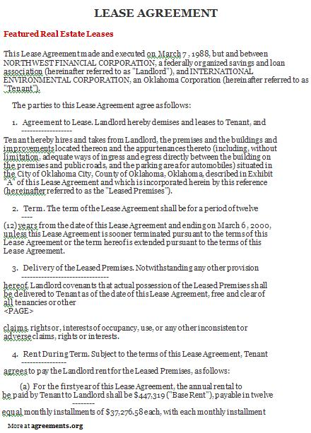 Sample Sublet Agreements lacienciadelpanico - Sample Sublease Agreement