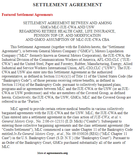 Settlement Agreement, Sample Settlement Agreement Template