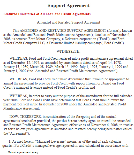 Support Agreement, Sample Support Agreement Template - sample child support agreement