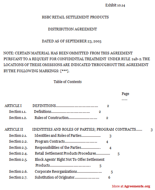 Reseller Agreement Template Images - Template Design Ideas