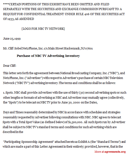 Advertising Contract Agreement Part Of A HavasVendor Contract - Advertising Contract Template
