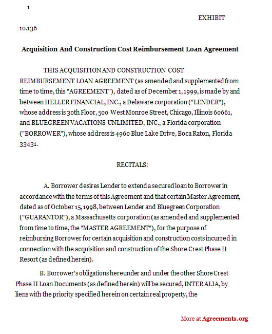 Sample Agreement For Money Loan – Secured Loan Agreement Template