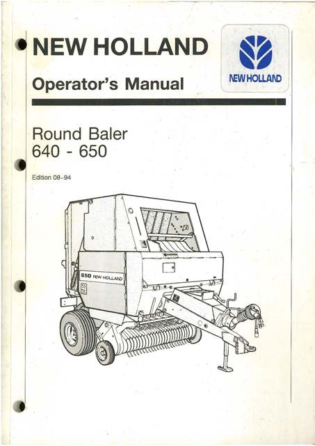 new holland round manual