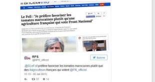 """""""Je préfère favoriser les tomates marocaines plutôt qu'une agriculture française..."""""""