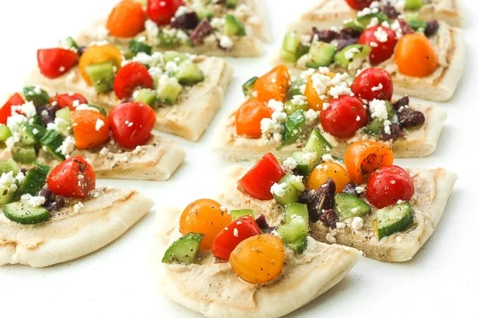 Greek Salad Hummus Flatbread Ahead of Thyme