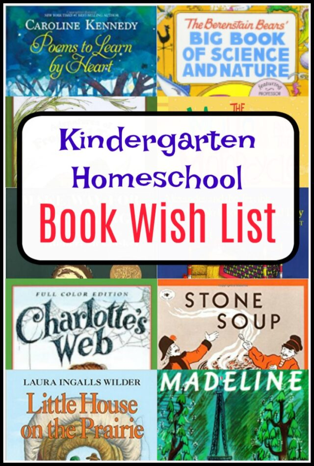 Kindergarten Homeschool Books to Fill Our At-Home Library