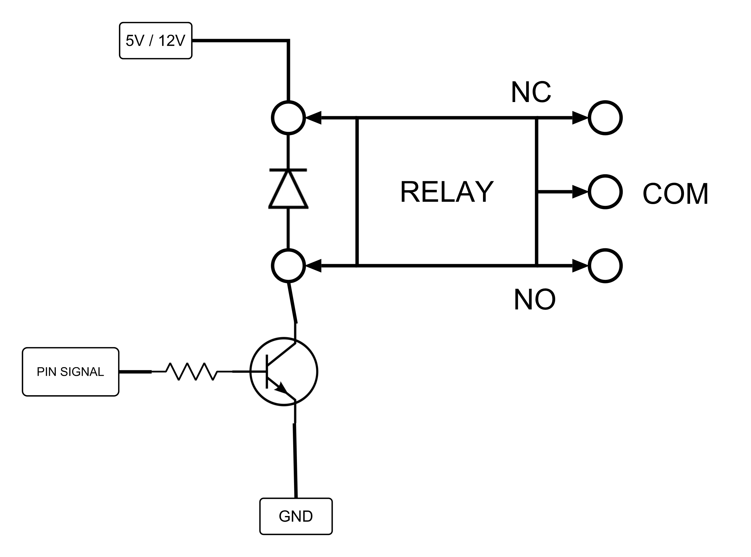 relay circuit using bc547