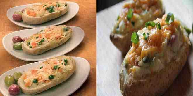 بطاطس مشوية ومحشية بالخضار من