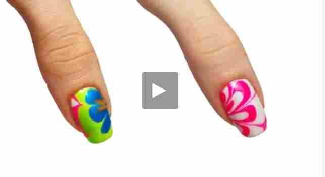 بالفيديو طريقة مذهلة الرسم بالمناكير على الأظافر