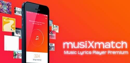 تطبيق استخراج كلمات الاغاني من جهاز الاندرويد musiXmatch Lyrics Player