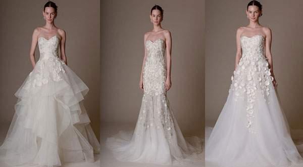 اجمل فساتين زفاف 2016 من مارشيسا و تصاميم ناعمة
