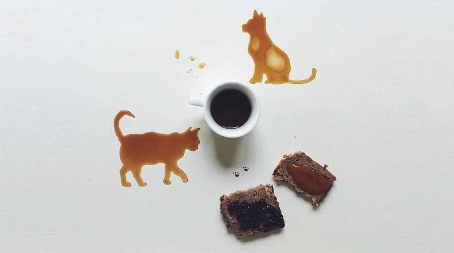 لوحات فنية رائعة مرسومة بالعسل و القهوة و الشوكولاتة