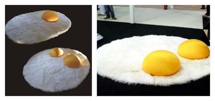 سجادة على شكل بيضة مقلية
