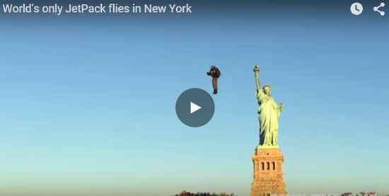 حقيبة نفاثة فيديو لتجربة التحليق بحقيبة الظهر النفاثة جولة مميز