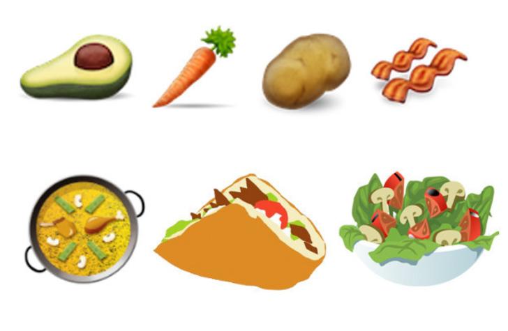 قائمة برموز الطعام الجديدة