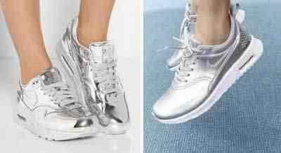 احذية باللون الفضي تكتسح صيف 2016 بأحدث التصاميم