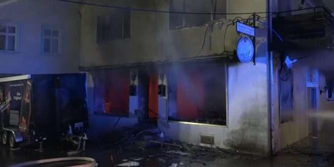 فحم أركيلة لاجئين سوريين يسبب حريق