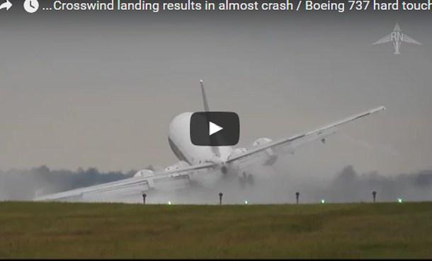 فيديو هبوط مرعب لطائرة بوينغ كاد أن يكون حادث مروع شاهد واحكم هل هي براعة الطيارة أم القدر