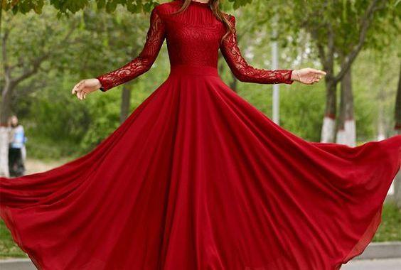 فساتين سهرة حمراء مميزة بمناسبة الأعياد لتكوني أنت الأجمل دائماً