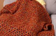أجمل بطانيات الكروشيه بتصاميم مميزة و ألوان أكثر من رائعة لشتاء دافئ