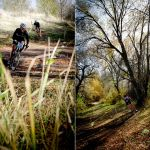 Two vertical photos of cyclocross racers, taken at the UTCX race at Soldier Hollow.