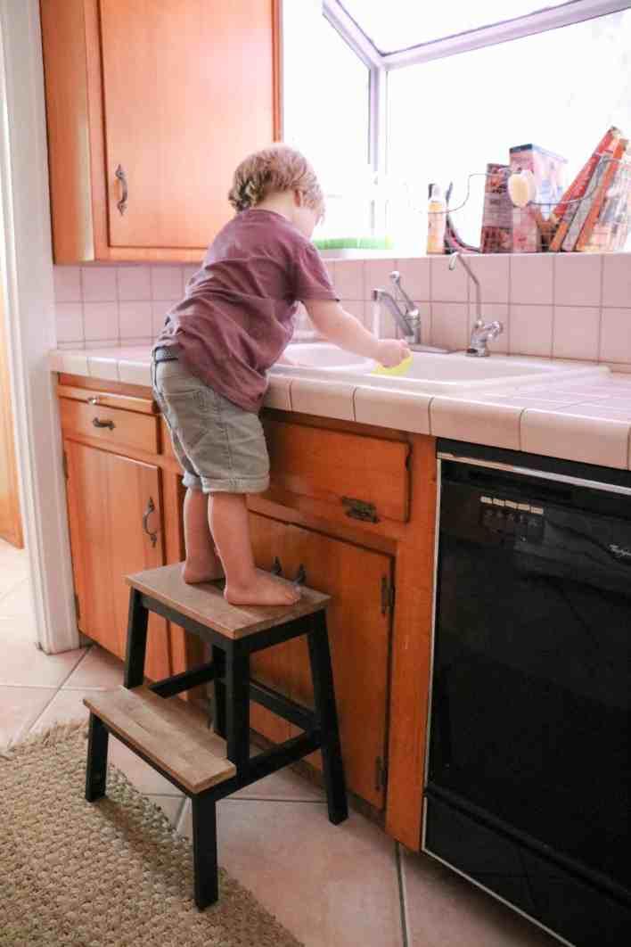 IKEA step stool hack|Ahrens at Home