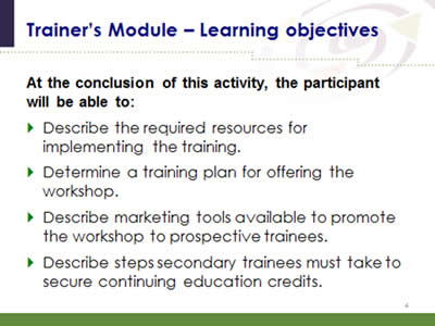 SHARE Approach Workshop Curriculum Agency for Healthcare Research