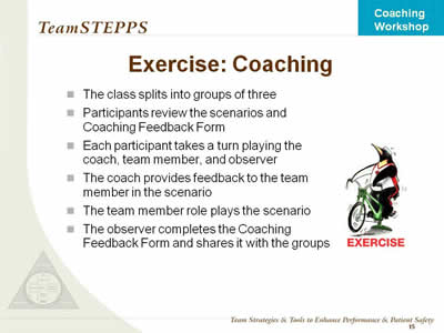 Coaching Workshop Classroom Slides Agency for Healthcare Research