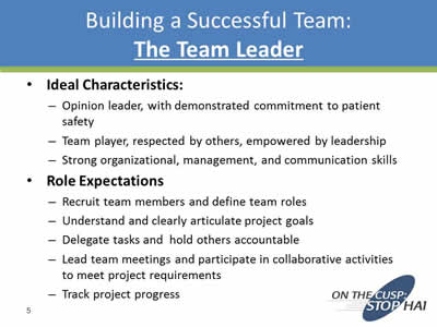 Building a Team and Process to Reduce CAUTI Risk Agency for
