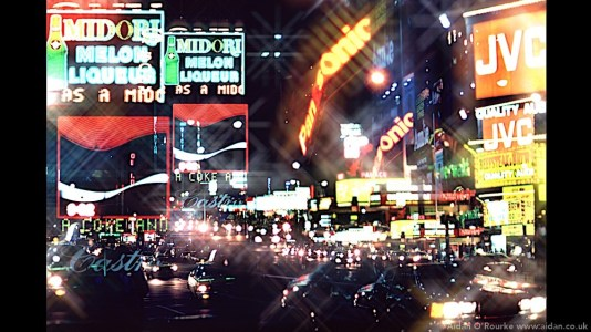 Times Square image digitally jazzed up