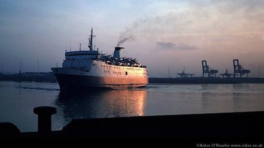 Liverpool-Dublin ferry 1981