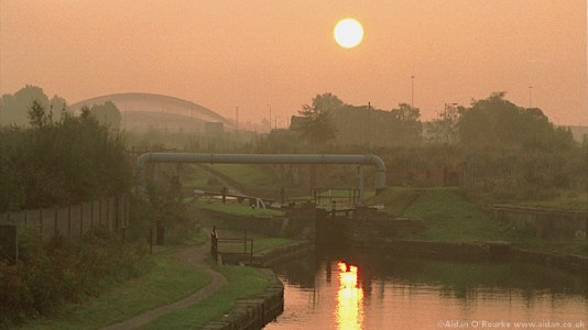 Ashton Canal sunrise 1998