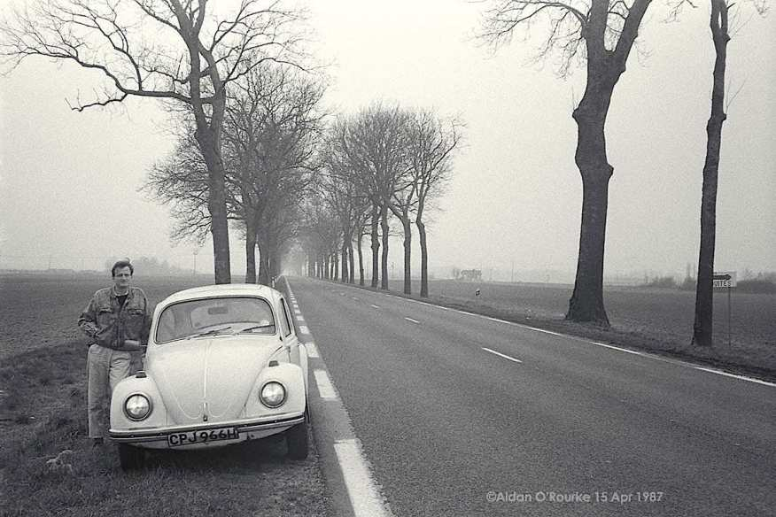 Aidan O'Rourke and his 1971 VW Beetle 1500. Photo by Kieran Sheridan