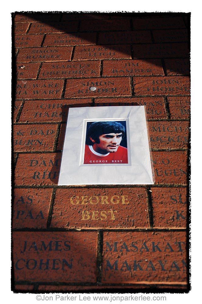 George Best tribute - photo by Jon Parker-Lee