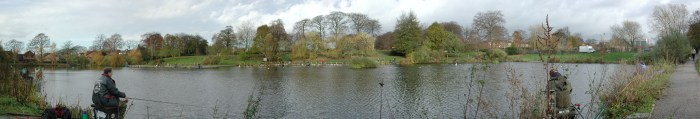 Panorama of the reservoirs, Edgeley, Stockport