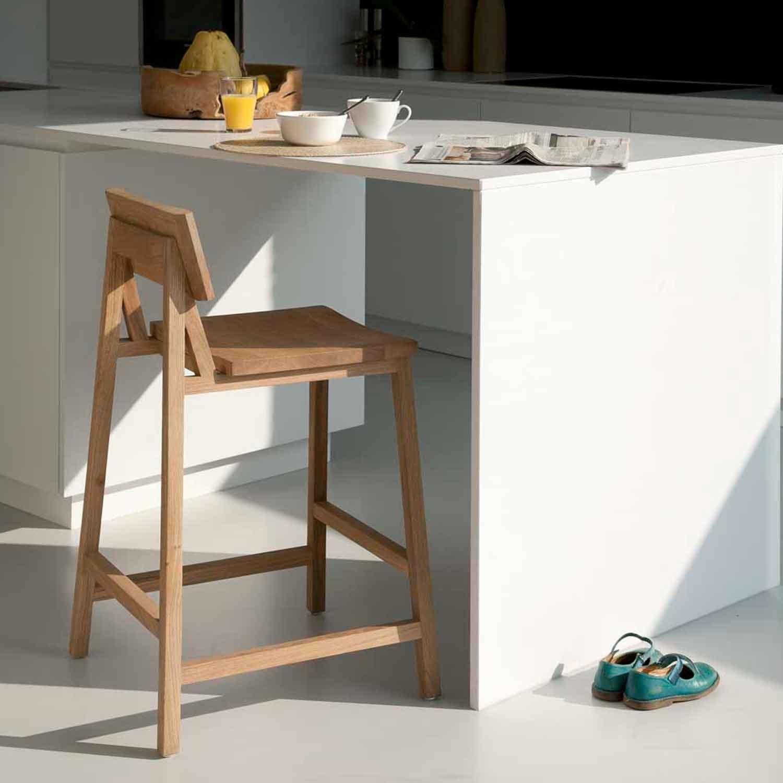 oak n3 kitchen counter stool countertop stools kitchen Ethnicraft Oak N3 kitchen counter stool